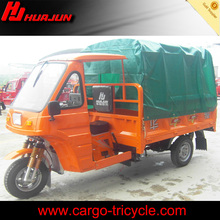 China Moto Trike Three Wheel Covered Motorcycle for Sale/Cargo Tricycle with Semi-cabin