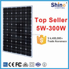 High Efficiency TUV Monocrystalline Solar panel 250wp