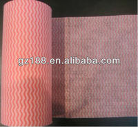 tear-off nonwoven cleaning cloth rolls, tear-off nonwoven rolls (viscose/polyster)
