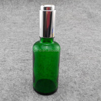 round essential oil glass bottle for luxurious cosmetic packaging/dubai packing empty glass airless pump bottle