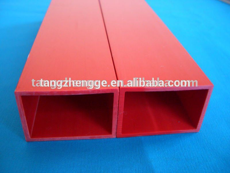 PVC Rectangular Hollow Tube PVC Rigid Square Pipe PVC Plastic Tube