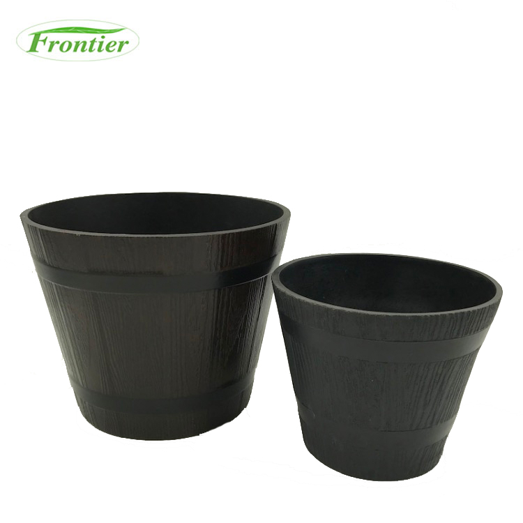 Custom Low Prices Biodegradable Eco-Friendly Kids Bamboo Fiber Cheap Balcony Flower Pots For Plants