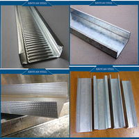 Low Price Drywall Light Steel Keel High Strength Paperbacked Studs/ Tracks/Furring Channel Runners Drywall Light Steel Keel