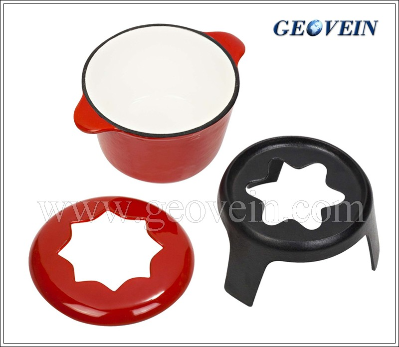 Hot sale 6pcs forks cast iron chocolate fondue set
