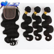 Fast shipping wholessale 100% peruvian virgin human hair bundles with lace closures