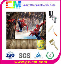Factory Supplier High Performance Varnish 3D Resin Epoxy Floor Paint