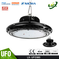 Dimmable no reflector motion sensor optional UFO ROSE series 200w led high bay light