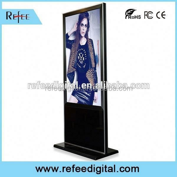 32/42/55/65inch ipad style/ stright corner floor standing led display screen for advertisement