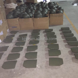 NIJ level plates painted green polyurethane with ceramic tiles