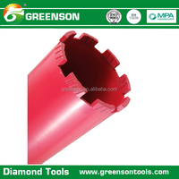 wet drilling concrete diamond core drill bits with competitive price