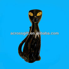 antique ceramic black cat