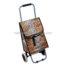 RW6105G China Shopping Bag Factory Supply Vegetable Shopping Trolley Bag In Leopard Print Fabric