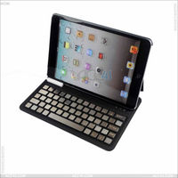 For iPad Mini Slim Bluetooth Keyboard with Leather Case P-iPDMINICASE107