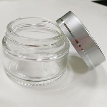clear glass jar dab container 30ml custom pyrex glass container with silver plastic lid for wax oil bho vaporizer