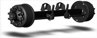 manufactuer of utility semi-trailer wheel axle L1 wheel hub caps torsion rubber axles trailer axle