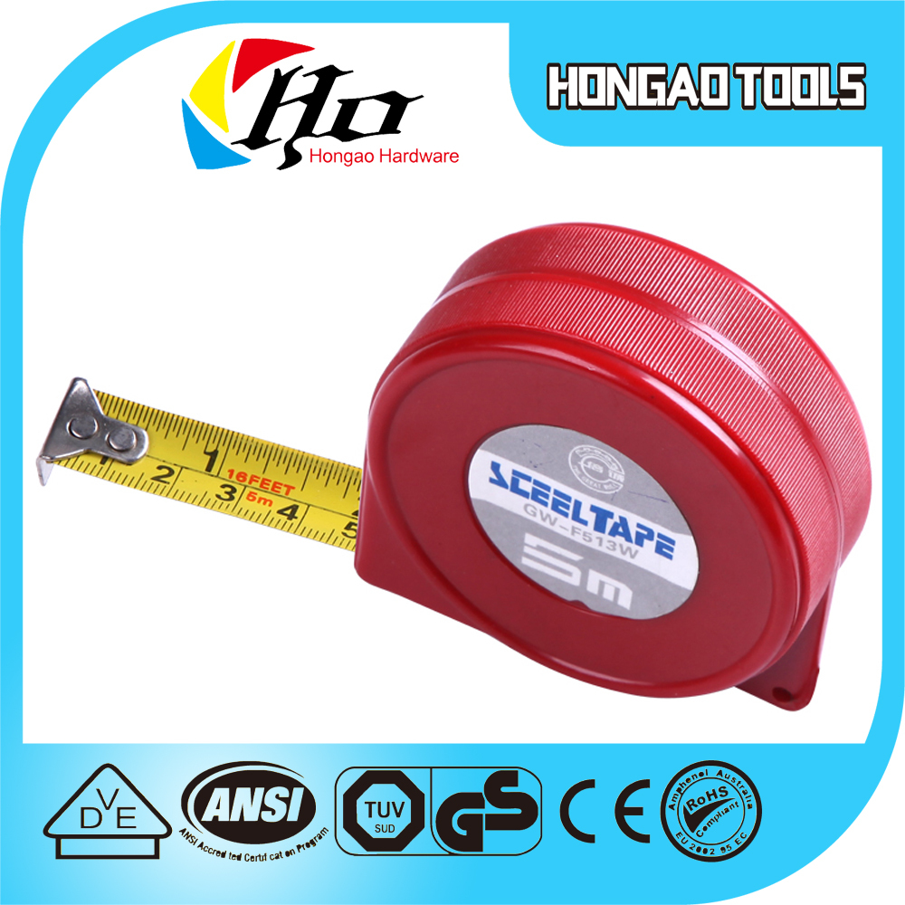 5m red color ABS case inch tape measuring measure tape 8m stanley