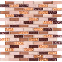 BSL016 Decorative interior tans and gold glass <strong>tile</strong>, wall kitchen backsplash colored glass and natural stone mosaic