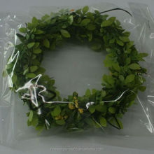 Wholesale easter artificial spring green leaf garland with mini flower