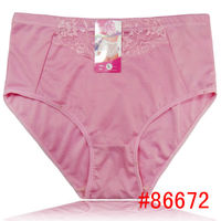 New arrival solid color lager size cotton women panties high waist comfortable mom underwear