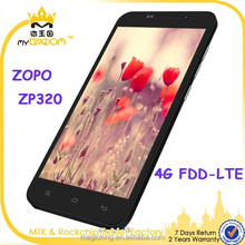 4G lte china smartphone 5'' MTK6582M quad core ZOPO ZP320 android4.4 mobile phone 1GB+8GB