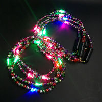 Blue Mardi Gras Lights Sparkling Beads for Party Decorations