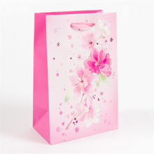 Fantastic flowers custom print color paper bag for gift