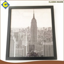 Modern city high building square decorative picture frame art painting