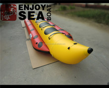 0.9mmPVC, CE, banana boat4M,inflatable boat water game tube