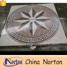 Norton waterjet marble tiles design medallion floor pattern for sale NTMS-MM013L
