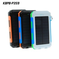 High capacity waterproof solar chargers 10000mah solar chargers for phone
