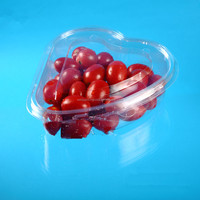 Heart Shaped Disposable Plastic fruit cherry and tomato packing box with lid