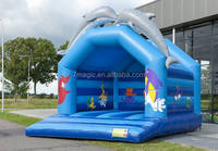 Inflatable Super Dolphin Jumping Bouncy Castle For Sale