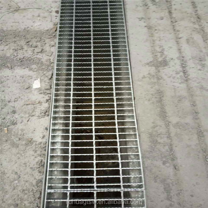Strong anti-corrosion galvanized road drainage steel grating