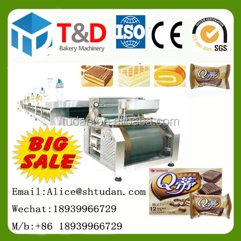 T&D Full automatic swiss roll production line bakery machine food industry equipment on sale food machine factory supplier china