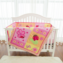 Lovely inkjet printing cute insect baby girl crib bedding set bed comforter set