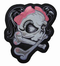 Skull/ Cross Iron On/ Sew Patch Badge skeleton goth gothic lolita emo punk rock