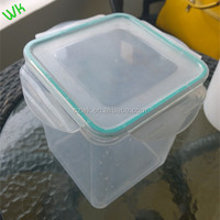 PP transparent square plastic bottle /box/container for food ,3kg
