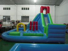 Cheap CE commercial large inflatable slide way big inflatable water slides for sale from factory