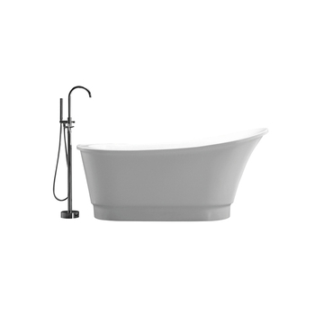 Up-To-Date Milk White Sitting Clipper-Built Irregular Antique Bath Tubs
