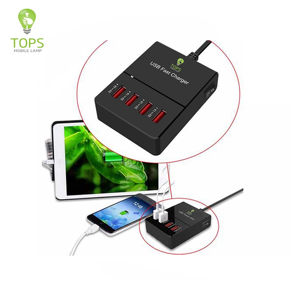 High speed 5V 20W OUTPUT 4 PORTS MULTI cell phone super charger FOR IPHONE