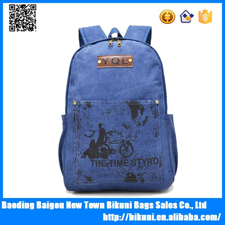 Good Quality Large Capacity Laptop Backpack Designer Canvas Backpack
