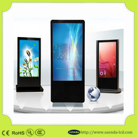 55 inch IR Touch Screen Sunlight Readable LCD Monitor Built-in Heater Fans indoor Digital Signage Kiosk