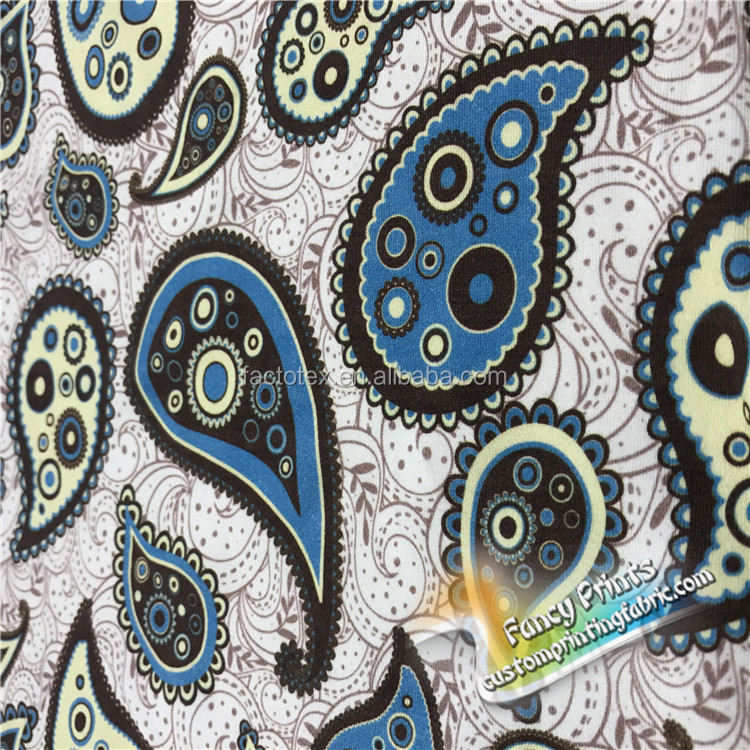 Wholesale customized good quality digital printing in cotton fabric 230gsm knitted fabric