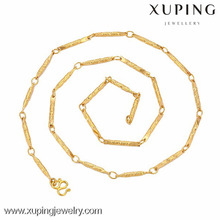 2016 New Arrival Fashion 24k Gold Palted Thin Ladies Chain Necklace Fake Gold Jewelry Necklace