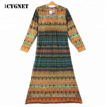 2018 new arrival plus size long Turkish Islamic dress