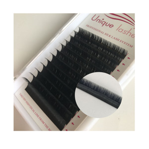 Popular handmade individual own brand eyelashes private label individual eyelashes extension professional