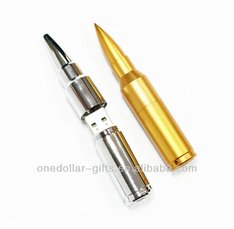 8GB USB 2.0 U Disk/Driver/Flash Disk with Bullet Shape-Golden