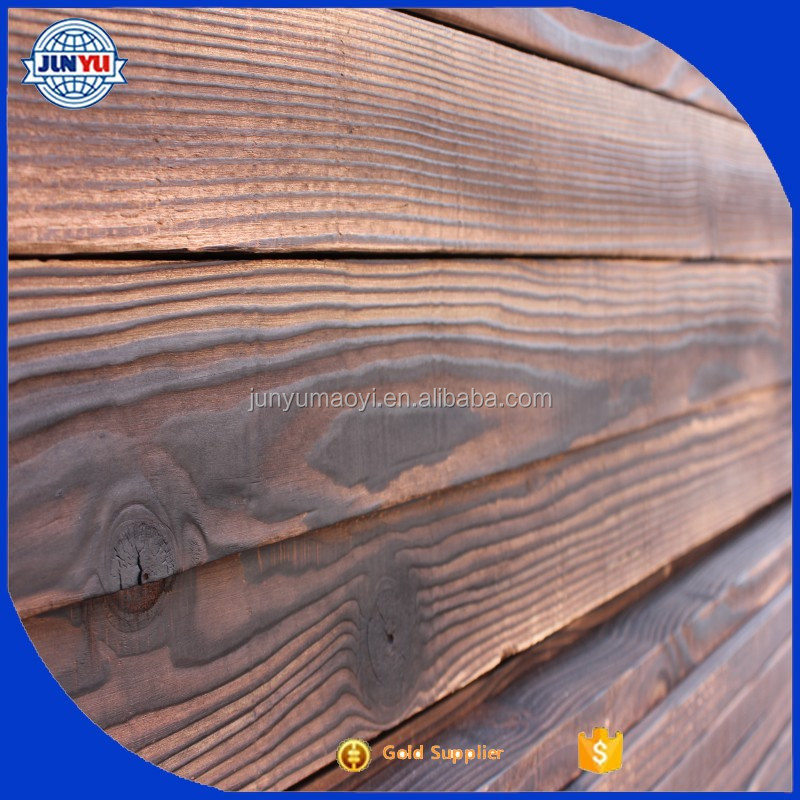 thermowood lumber boards/ thermowood timber boards / carbonized wood boards