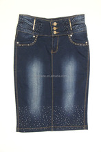 Custom high quality vintage classic blue women dress wear jeans skirt wholesalers