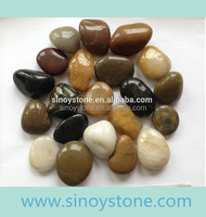 veriety flat round river pebble stone